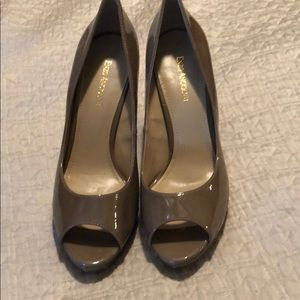 Taupe patent pumps new only worn to try. Size 11